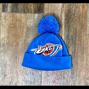 OKC Thunder Adidas Blue Pom Pom Beanie NBA